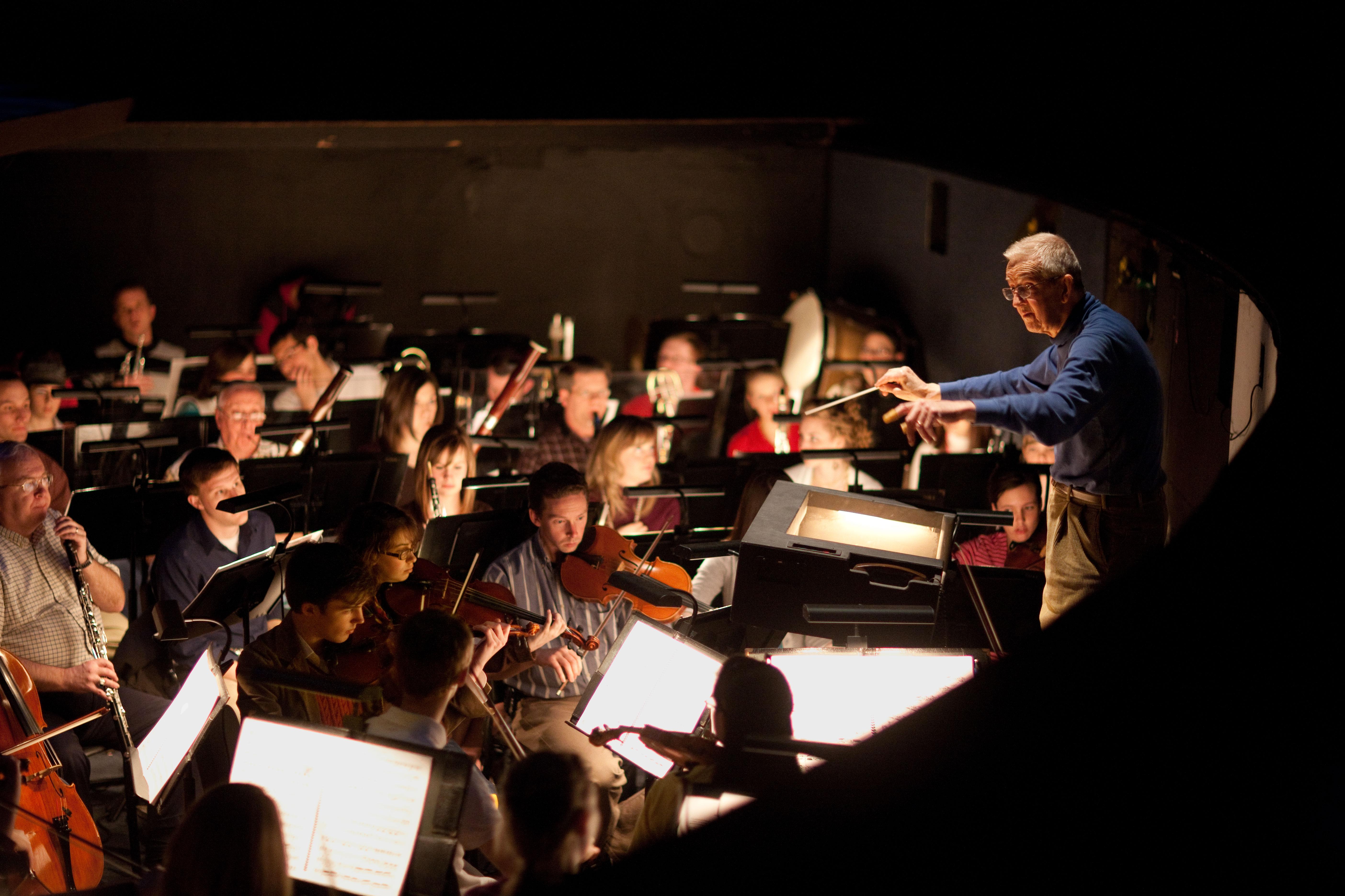 "Dr. Gus conducting rehearsal for ""Samson et Dalila,"" 2010"