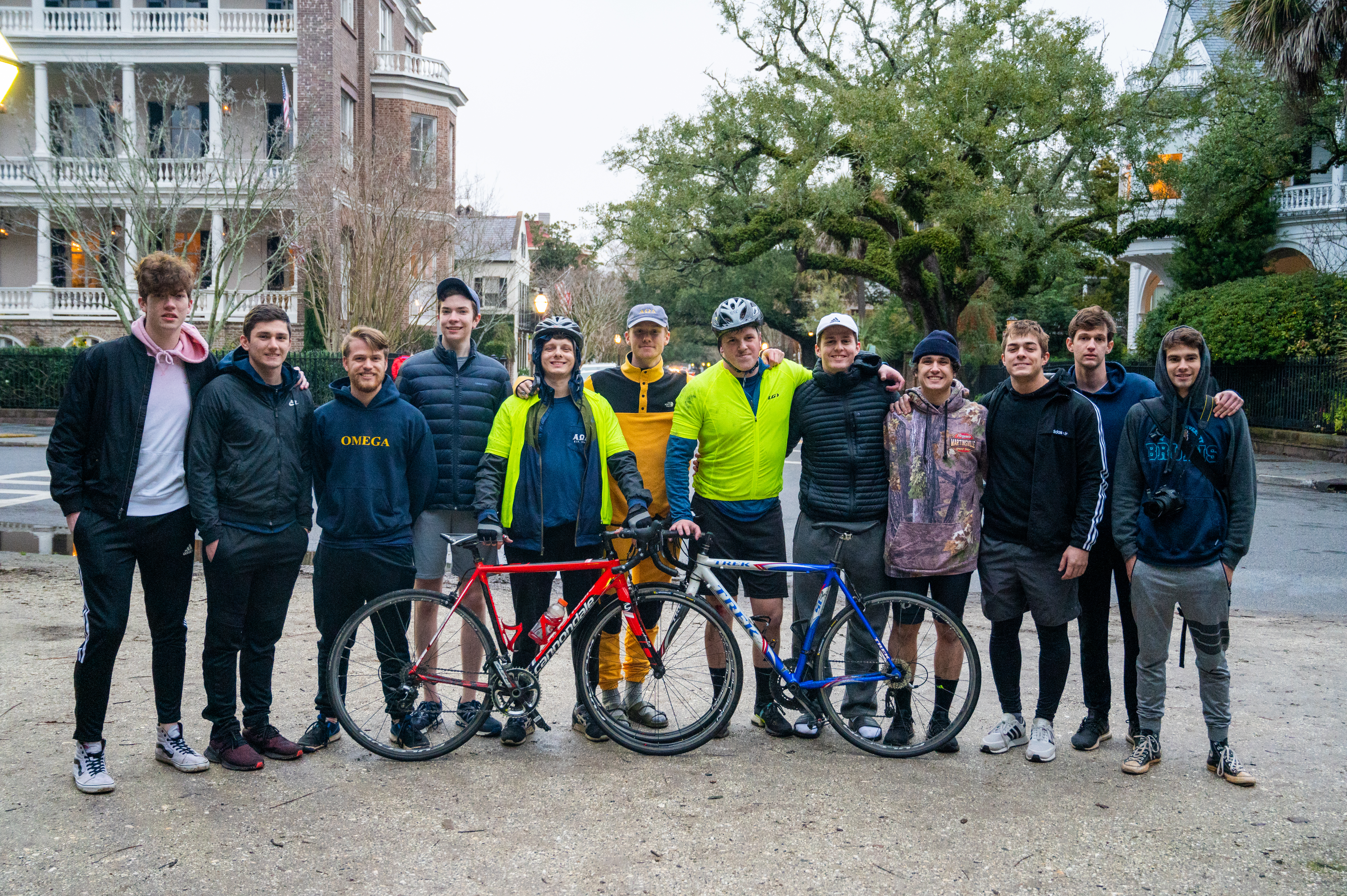 Alpha Omega Delta biked from Greenville to Charleston in their Tour de Omega (Photo by Mark Fuller Jr.)
